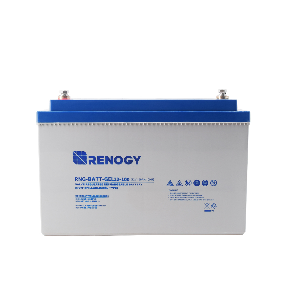 renogy deep cycle pure gel battery 12volt 100ah renogy solar. Black Bedroom Furniture Sets. Home Design Ideas