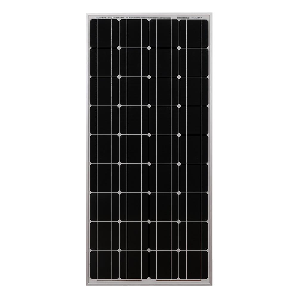 100 Watt 12 Volt Monocrystalline Solar Panel Renogy Solar
